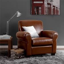 Camel Leather Chair Dorel Living Cigar Arm Club Chair Camel