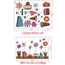 aliexpress com buy cute cartoon flower butterfly wall stickers