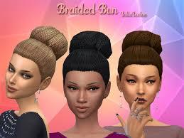 the sims 4 natural curly hair sims 4 hair bun