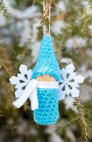 crochet gnome cork peg doll ornament with myfavoritebloggers