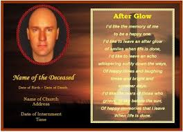 free funeral card templates free memorial card template in
