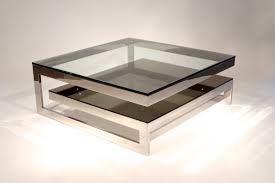 Glass Top Coffee Table With Metal Base Furniture Adorable Two Tier Contemporary Mirrored Coffee Table