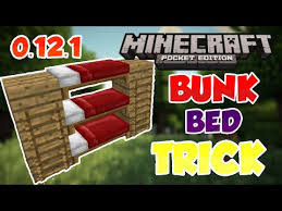 BUNK BEDS IN MCPE  Awesome Trick Minecraft Pocket - Minecraft bunk bed