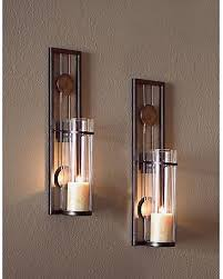 Glass Candle Wall Sconces Bargains On Danya B Metal Wall Sconce Set Contemporary Iron Glass