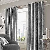 Grey And Silver Curtains Eyelet Curtains Curtains Blinds Tesco Direct Tesco