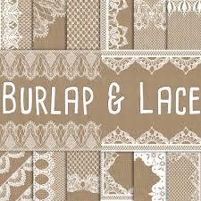 burlap and digital paper burlap wedding invitation