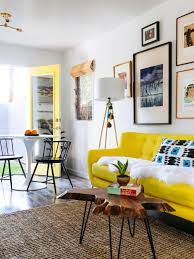 Yellow Room Simple Inspiration On How To Style Around A Yellow Sofa