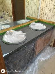Painting Bathroom Countertops Spray Painted Bathroom Counter Painted Tiles Spray Painting And