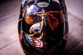 custom painted motocross helmets shaw u0027s custom painted troy lee designs d3 for world champs pit