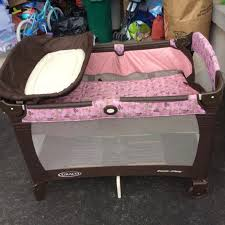 Graco Pack N Play Changing Table Find More Graco Pack N Play Pink And Brown Flowers Excellent