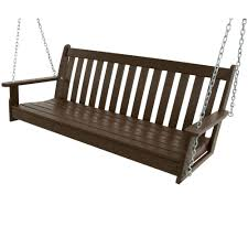 Outdoor Patio Swing by Jack Post Jennings 4 Ft Traditional Wood Porch Patio Swing H 24