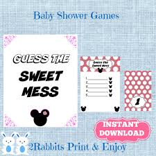 minnie mouse dirty diaper game baby shower disney name that