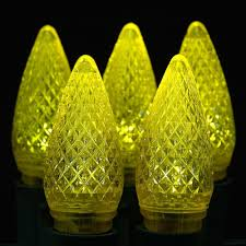 led yellow c9 replacement lights 25 pack