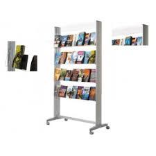 pr駸entoir bureau présentoir mobile brochures paperflow
