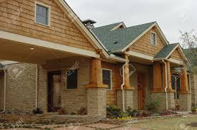 craftsman style home in stock photo picture and royalty