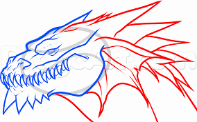 dragon head coloring pages dragon head front view drawing