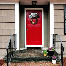 big mahogany dark front door white glass idea red paint colors