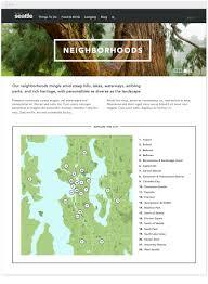 Seattle Neighborhood Map by Shiner Studio U2022 Visit Seattle