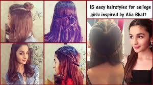 15 cute u0026 easy college hairstyles inspired by alia bhatt