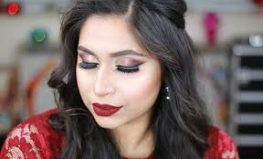 wedding makeup tutorial today i ll show you how to create this bold wedding guest party makeup tutorial this party makeup look is perfect for indian
