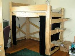 Free Full Size Loft Bed With Desk Plans by Loft Beds Stupendous Diy Full Loft Bed Pictures Diy Full Size