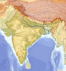 India Maps by Large Relief Map Of India India Asia Mapsland Maps Of The