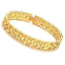 mens gold hand bracelet images Fate love fashion 18k gold plated link chain men 39 s jpg