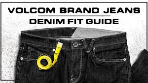 volcom men u0027s jeans fit guide and size charts