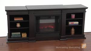 real flame fresno dark walnut electric fireplace and entertainment