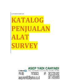 katalog penjualan alat survey asep yadi hp 081323264262