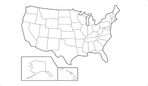 Blank Usa States Map by 45 Blank State Map Download Map German States Major Tourist
