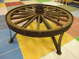 Rustic Coffee Table With Wheels Country Rustic Wagon Wheel Coffee Table By Junktiquerecycling