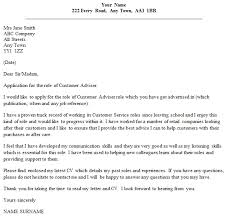 customer adviser cover letter example u2013 cover letters and cv examples