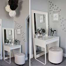 lots of homegoods finds in this beautiful dressing area u0026 vanity