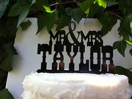 t1 rustic country western font custom name wedding cake topper