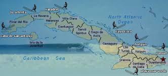 Cuban Map Cuba Surfinder