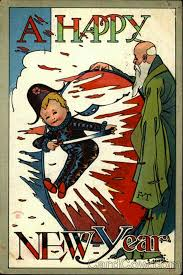 new year s postcards 30 strange and creepy vintage new year s postcards from between