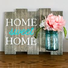 home sweet home vintage ball perfect mason jar sign rustic home