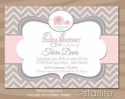 pink and grey elephant baby shower elephant ba shower invitations elephant ba shower invitations