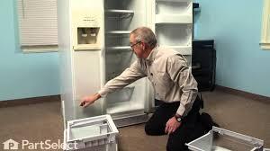 Kitchenaid P by Refrigerator Repair Replacing The Crisper Drawer Cover And Shelf
