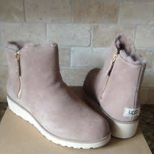 ugg s zip boots ugg australia shala fawn womens suede winter ankle boots 9 ebay