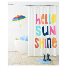 Target Striped Shower Curtain Hello Sunshine Shower Curtain White Pillowfort Target