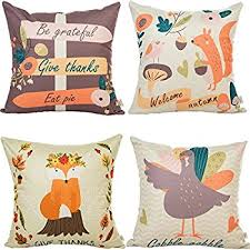 elyhome 18x18 thanksgiving decorative pillow covers 4