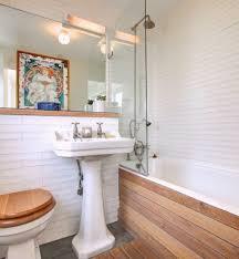 Bathroom Wall Covering Ideas by Bath Panel Ideas Bathroom Contemporary With Built In Bath Mirror