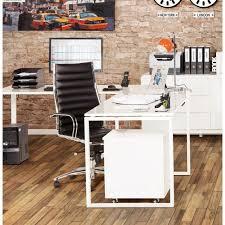 bureau d angle design blanc bureau d angle design fidji en bois laqué et métal peint blanc