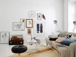 scandinavian wall clock interior beautiful scandinavian design ideas microfiber sofa
