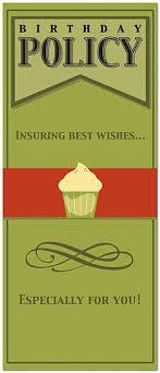 Birthday Card Sender Cupcake Policy Birthday Card Insurance Birthday Cards