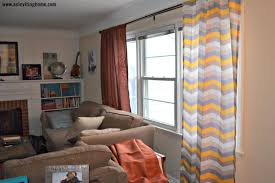 Gray And White Chevron Curtains by Interior Enchanting Grey And Yellow Curtains Designs Custom