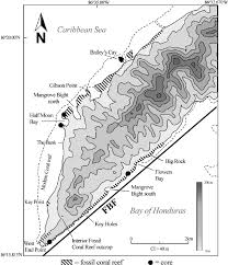 Topographic Map Of Ohio by Topographic Map Of Western Roatan Showing The Distribution Of