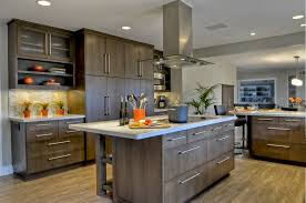 distressed wood cabinets kitchen contemporary with oak cabinets